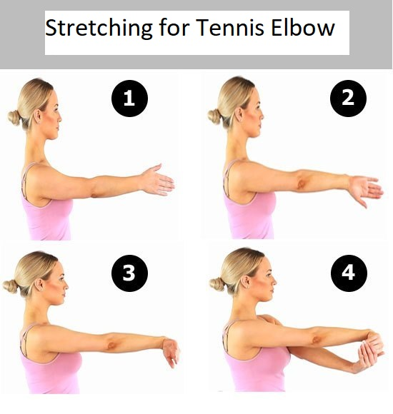 STRETCHING FOR TENNIS ELBOW