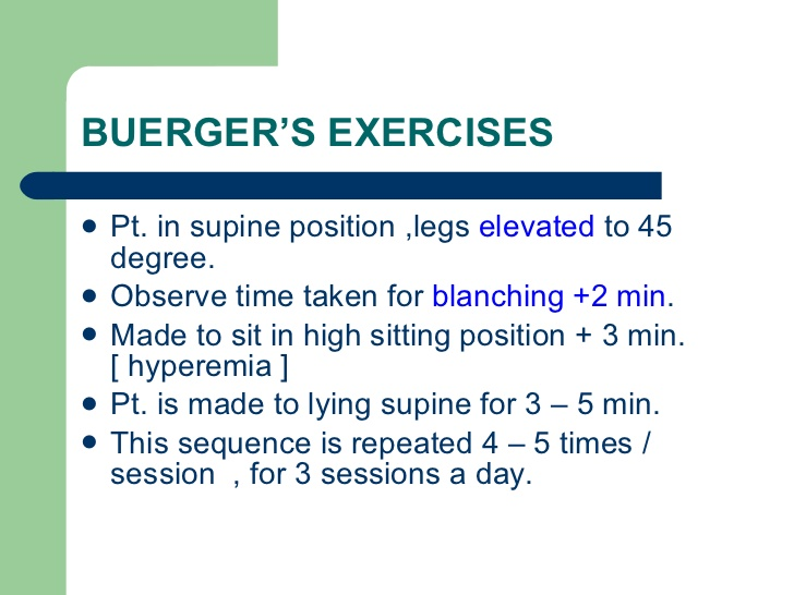 buergers-exercises
