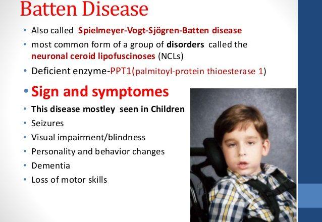 batten disease symptoms