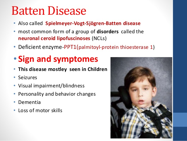 batten disease symptoms