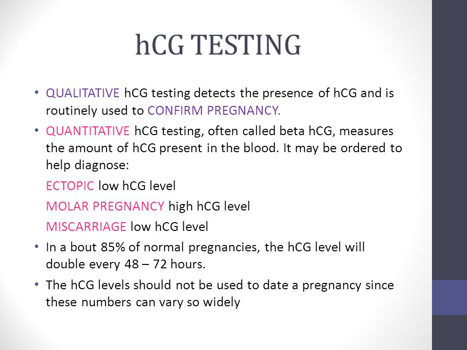 hCG level ectopic pregnancy